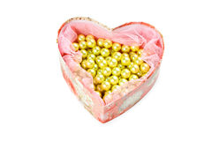 Heart shaped jewel box Royalty Free Stock Photos