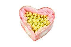 Heart shaped jewel box Royalty Free Stock Photos