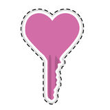 Heart shaped key icon image Royalty Free Stock Images