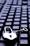 Heart-shaped key keyboard Royalty Free Stock Photos