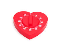 Heart shaped kitchen timer Royalty Free Stock Photography