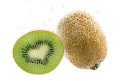 Heart-shaped kiwi underwater Royalty Free Stock Image