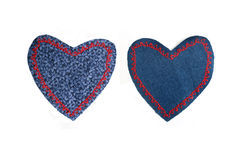Heart shaped knee patches Royalty Free Stock Photos