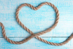 Heart shaped knot Royalty Free Stock Photo