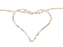 Heart shaped knot on a rope Royalty Free Stock Photo