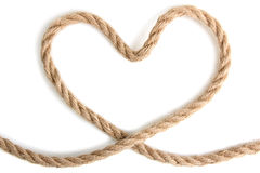 Heart shaped knot Stock Photo