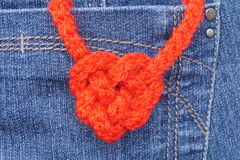 Heart-shaped knot Stock Photos