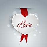 Heart shaped label for Valentines day Stock Photo