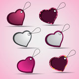 Heart Shaped Labels and Tags Royalty Free Stock Photos