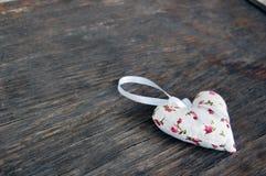 Heart shaped lavender bag Royalty Free Stock Image