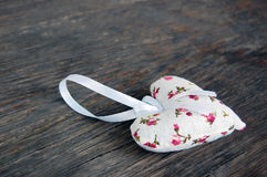 Heart shaped lavender bag Royalty Free Stock Photography