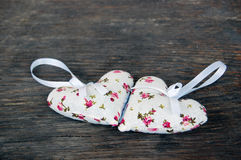 Heart shaped lavender bags Stock Photography