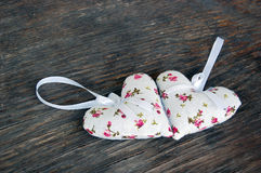 Heart shaped lavender bags Royalty Free Stock Image