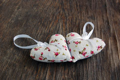 Heart shaped lavender bags Royalty Free Stock Photos