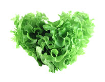 Heart shaped lettuce salad Royalty Free Stock Photography