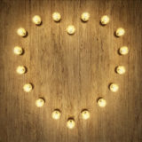 Heart shaped light decor. 3D rendering of light decor for digital creations such as invitations, greeting cards and more Royalty Free Stock Images