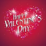 Pink, love, warmth, Valentine`s day. Heart-shaped light dots, Valentine`s Day greeting cards available,Pink, love, warmth, Valentine`s day Stock Photo