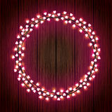 Heart-shaped Lights Wreath Stock Photography