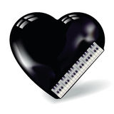 Heart shaped like a piano Royalty Free Stock Photo