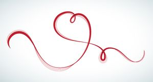 Heart shaped line Stock Photo