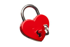 Heart shaped lock Stock Photo