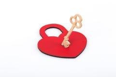 Heart shaped lock and key Stock Image