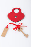 Heart shaped lock and key Royalty Free Stock Photos