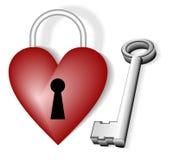 Heart shaped lock Stock Photo