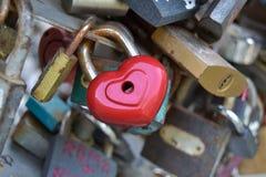 Heart shaped lock Stock Photos
