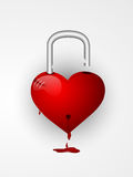 Heart shaped lock for Valentines Day. Royalty Free Stock Photos