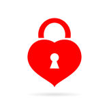 Heart shaped lock vector icon Stock Photography