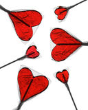 Heart-Shaped Lollipops Royalty Free Stock Photos