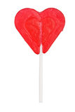 Heart shaped lollipop Stock Images
