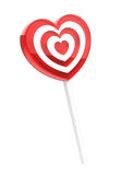 Heart shaped lollipop Royalty Free Stock Photos