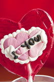 Heart shaped lollipop Royalty Free Stock Photography