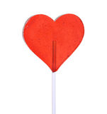 Heart shaped lollipop Stock Image