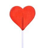 Heart shaped lollipop Stock Image
