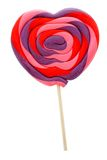 Heart shaped lollipop Stock Photo