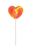 Heart shaped lollipop isolated on white background Stock Photos