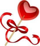 Heart shaped lollipop. Stock Image