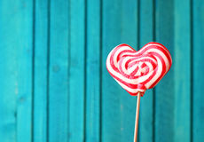 Heart shaped lollipop for Valentine's Day Stock Images