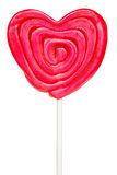 Heart-shaped lollipop Royalty Free Stock Images