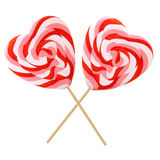 Heart-shaped lollipops Stock Photography