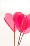 Heart shaped lollipops Stock Image