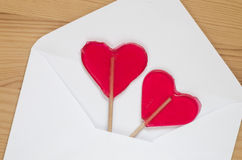 Heart shaped lollipops Stock Photography
