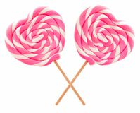 Heart shaped lollipops Royalty Free Stock Photo