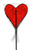 Heart-Shaped Lollypop Stock Image