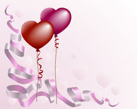 Heart shaped love balloon back Royalty Free Stock Photo