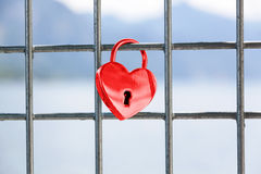 Heart shaped love padlock Royalty Free Stock Images
