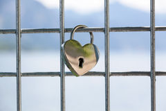 Heart shaped love padlock Stock Images